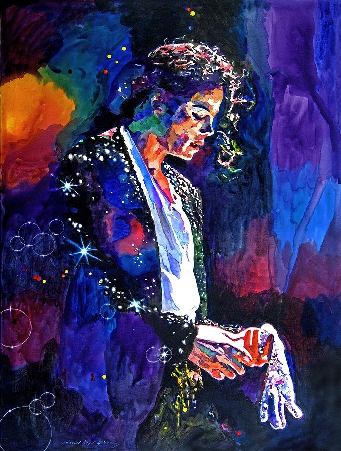 The Final Performance – Michael Jackson Paintingdavid Lloyd Glover Pertaining To Michael Jackson Canvas Wall Art (Image 15 of 15)