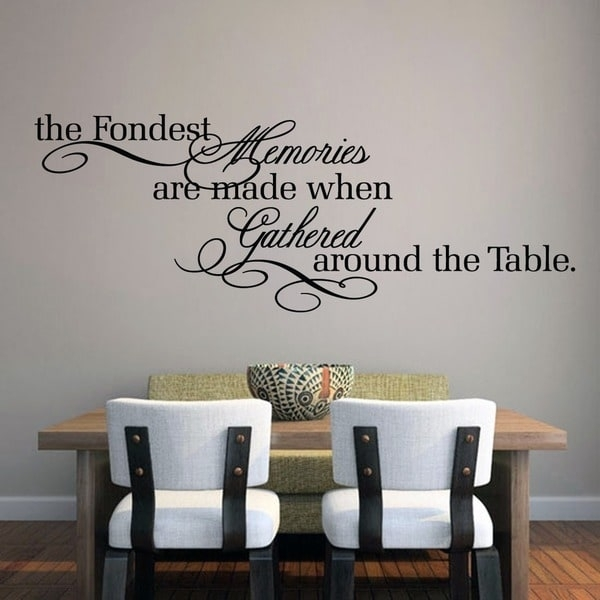 The Fondest Memories' 60 X 22 Inch Large Wall Decal – Free Throughout Wall Accent Decals (View 14 of 15)