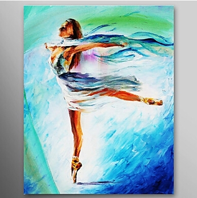 The Girl Dance Ballet Dancer Oil Painting Wall Art Modern Canvas Within Dance Canvas Wall Art (Image 13 of 15)