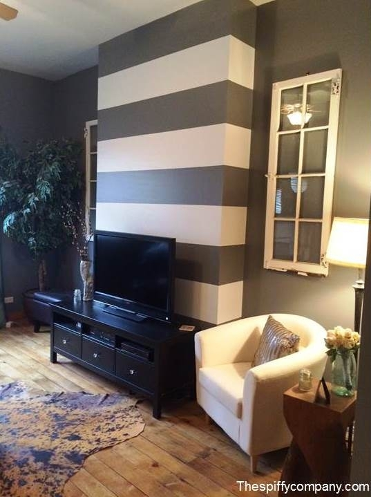 The Great Debate: To Accent Wall Or Not To Accent Wall – The With Stripe Wall Accents (Image 15 of 15)