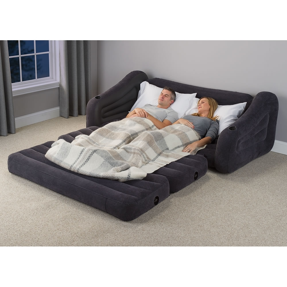 The Inflatable Queen Size Sleeper Sofa – Hammacher Schlemmer For Queen Size Sofas (View 9 of 10)