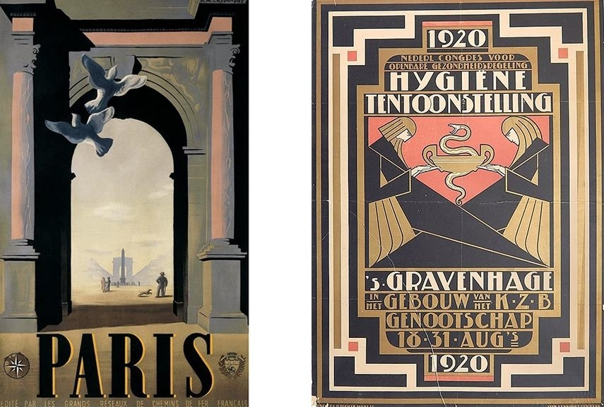 The Irresistible Nature Of An Art Deco Poster | Widewalls Throughout Famous Art Framed Prints (Image 12 of 15)