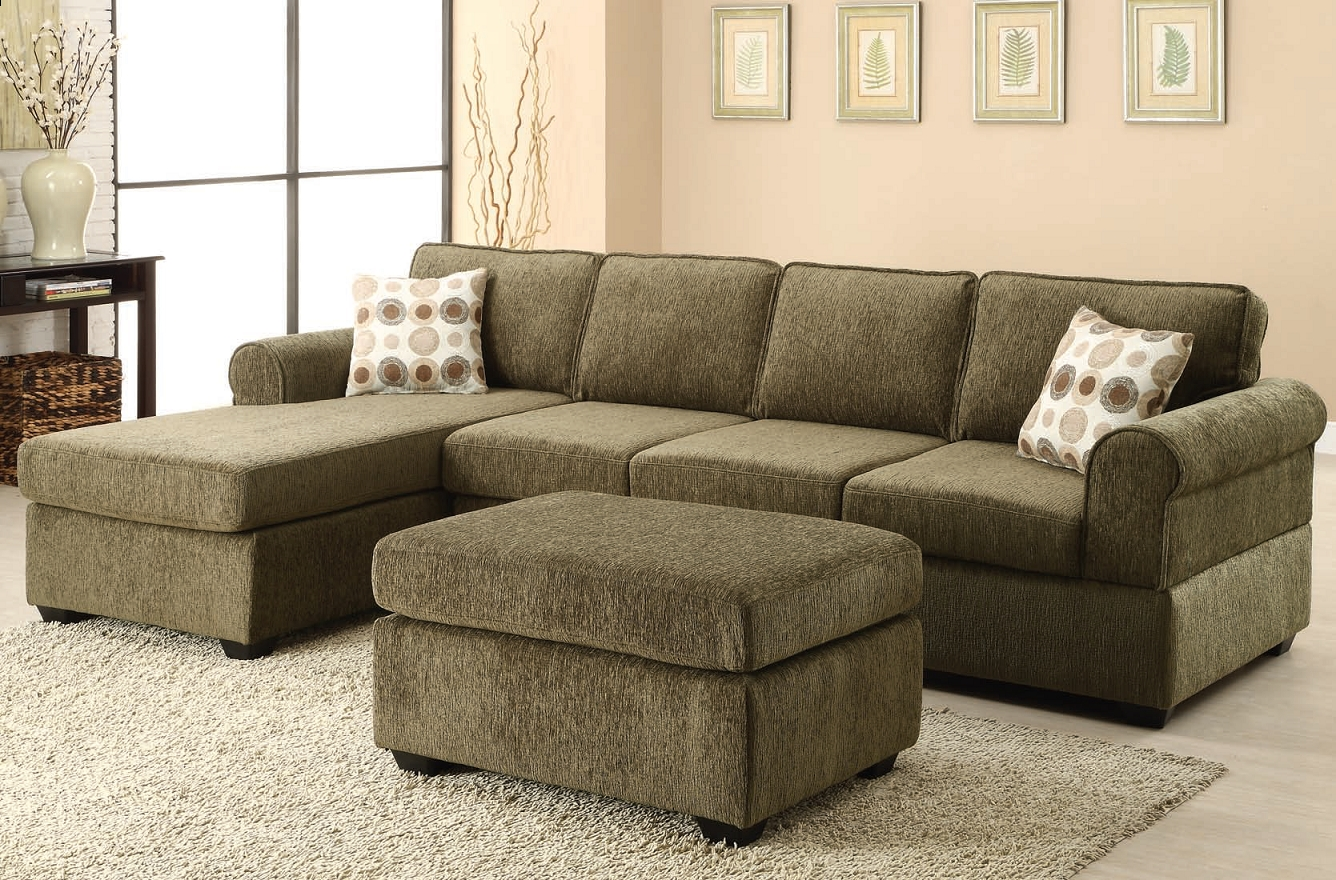 The Jensen Tarragon Reversible Sectional Sofa In Sage Green For Eau Claire Wi Sectional Sofas (View 9 of 10)