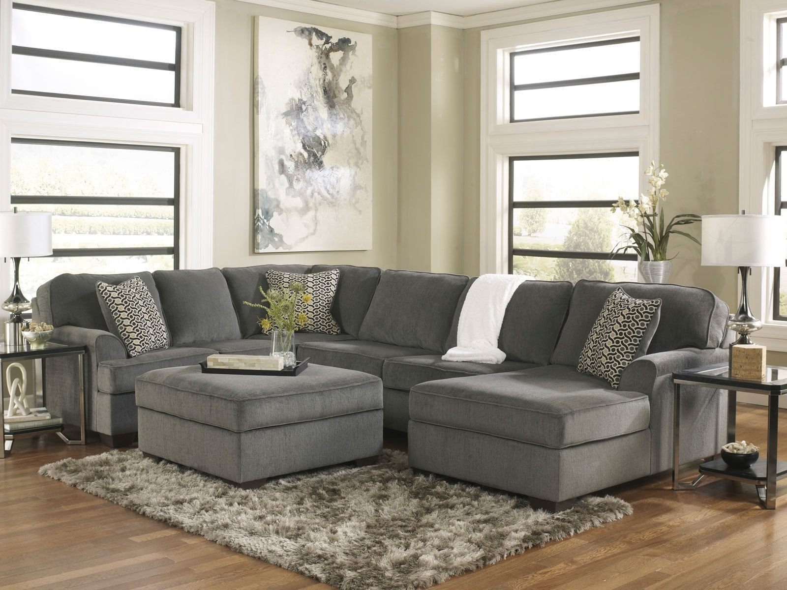 The Kittredge 3 Piece Sectional From Ashley Furniture Homestore Throughout 10X8 Sectional Sofas (Image 10 of 10)