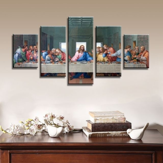 The Last Supper Canvas Wall Art Prints Hd Religious Jesus Intended For Religious Canvas Wall Art (Image 10 of 15)