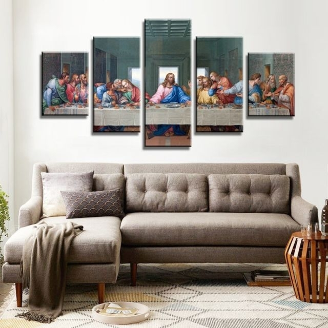 The Last Supper Canvas Wall Art Prints Hd Religious Jesus Regarding Religious Canvas Wall Art (Image 11 of 15)
