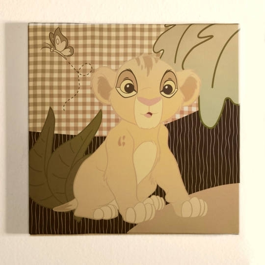 The Lion King Wall Art | Disney Baby In Lion King Canvas Wall Art (Image 12 of 15)