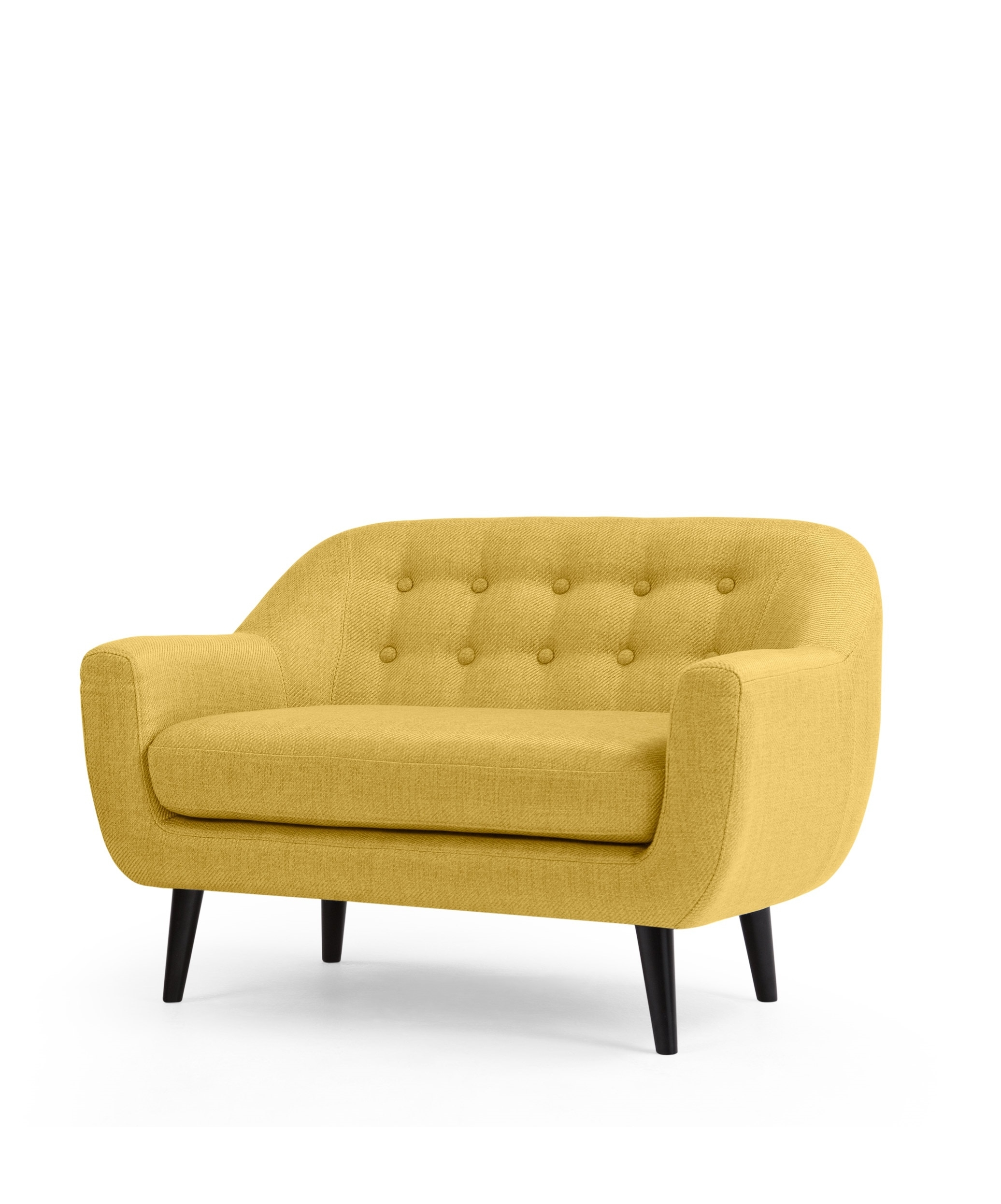 The Mini Ritchie 2 Seater Sofa, In Ochre Yellow (View 9 of 10)