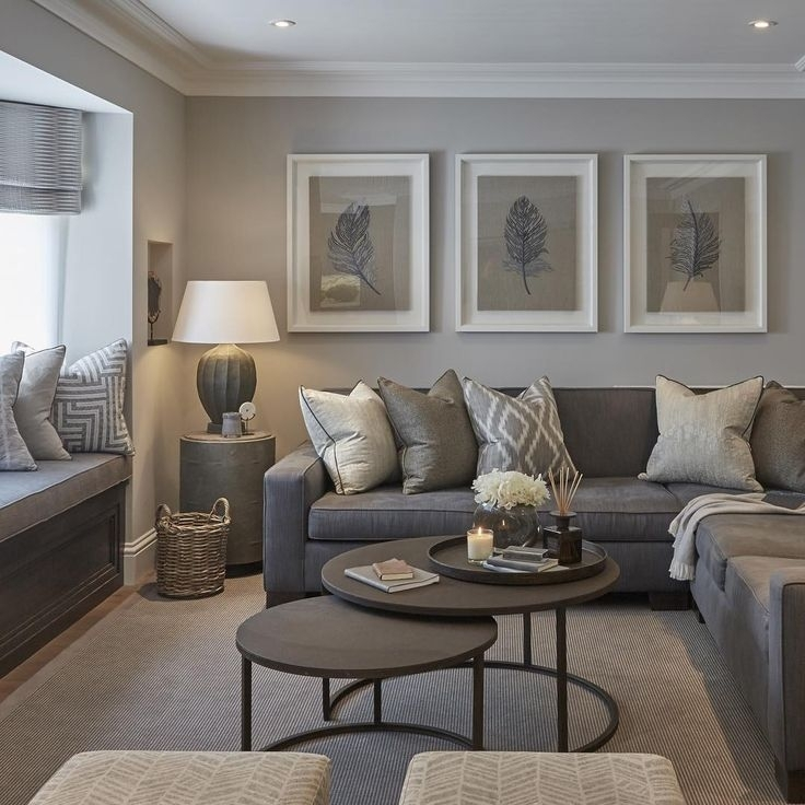The Neutral Colors Of This Living Room Are Perfectly Echoed In The With Neutral Color Wall Accents (Image 14 of 15)