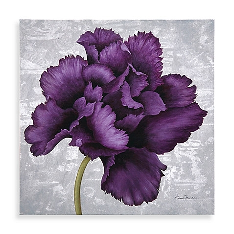 The Plum Colored Flower Of This Canvas Wall Art Will Add A Nice In Purple Flowers Canvas Wall Art (Image 12 of 15)