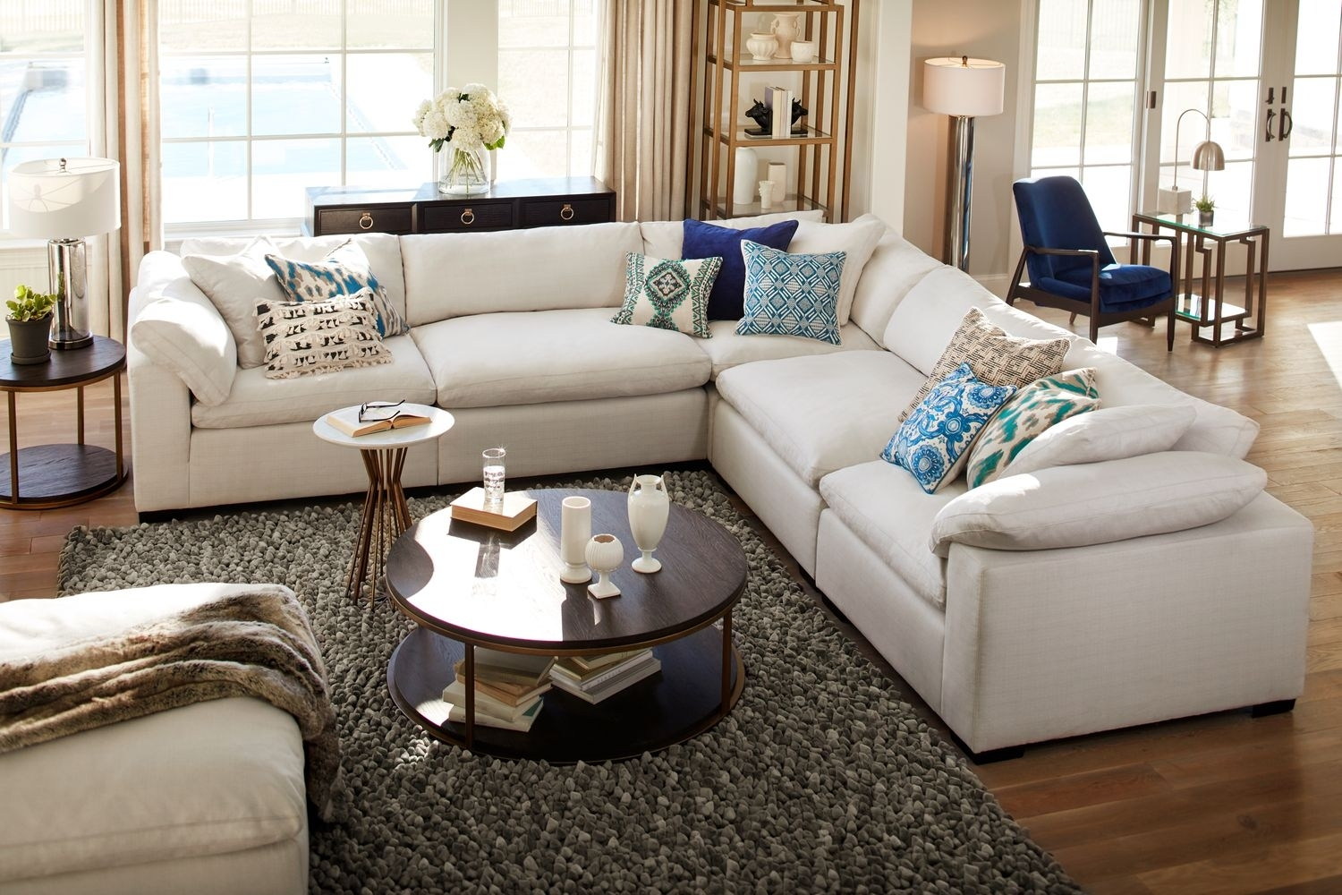 The Plush Sectional Collection – Anders Ivory | Value City Furniture Throughout Plush Sectional Sofas (Image 6 of 10)
