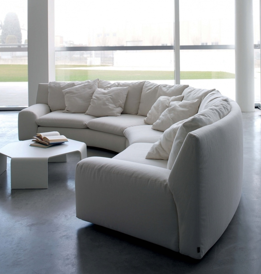 The Semicircular Sofa In Fabric Ben Ben, Arflex – Luxury Furniture Mr Intended For Semicircular Sofas (View 5 of 10)