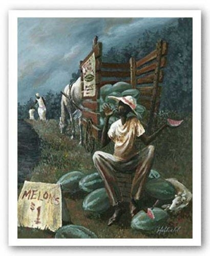 "The Watermelon Man""holyfield African American Art Poster Print Regarding Framed African American Art Prints (Image 14 of 15)"