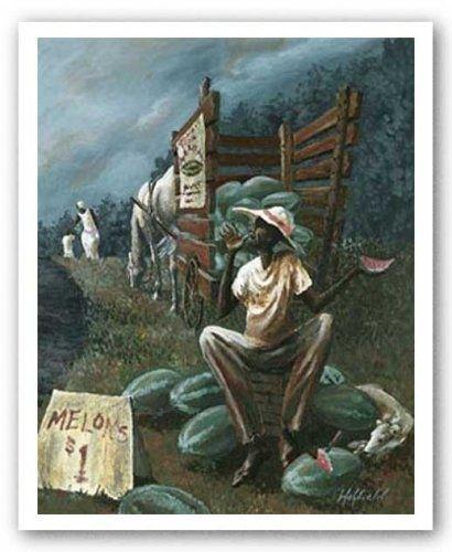 "The Watermelon Man""holyfield African American Art Poster Print Regarding Framed African American Art Prints (View 7 of 15)"