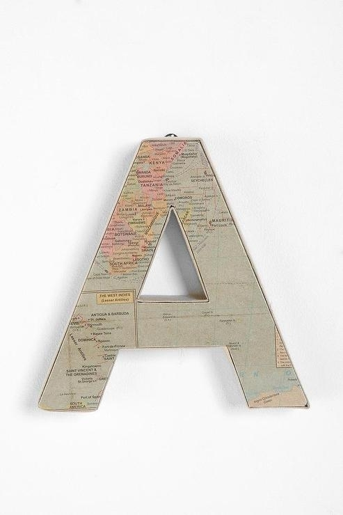 The World Letter I Urban Outfitters Inside Fabric Wall Art Urban Outfitters (View 6 of 15)