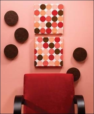 Thermocol Crafts (Styrofoam Crafts) – Use A Thermocol Sheet In Fabric Covered Squares Wall Art (Image 13 of 15)