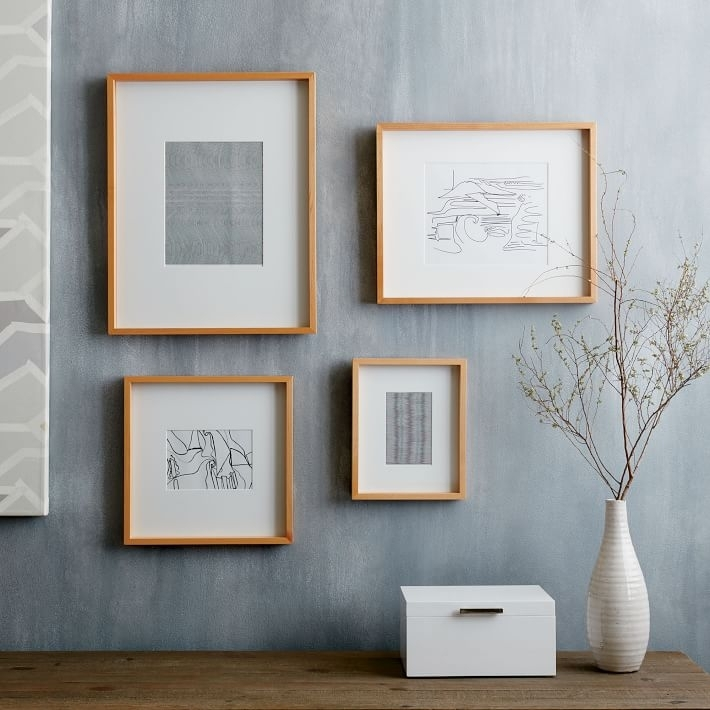 Thin Wood Gallery Frames – Wheat | West Elm For Frames Wall Accents (View 13 of 15)