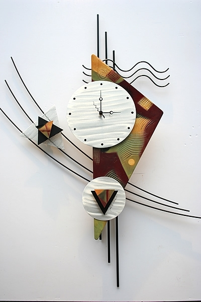 This Contemporary Metal Wall Clock Sculpture Is A Great Design Throughout Abstract Metal Wall Art With Clock (View 2 of 15)