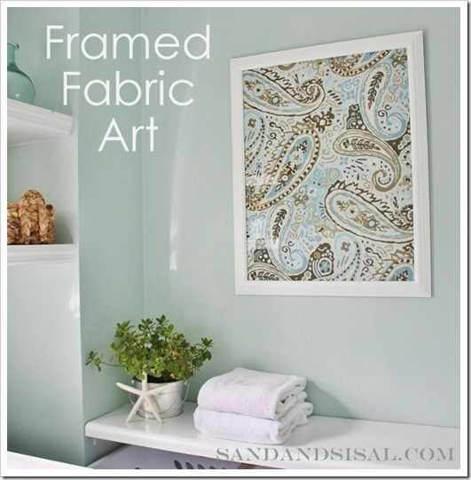 This Has Been One Of My Favorite Ways To Spruce Up Our Home For Intended For Diy Framed Fabric Wall Art (View 13 of 15)