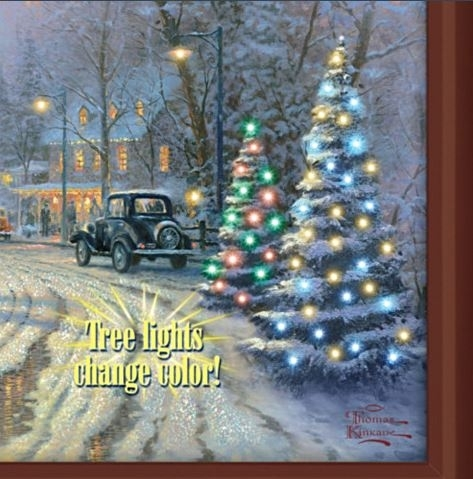 Thomas Kinkade A Holiday Gathering Lighted Canvas Print With Regard To Lighted Canvas Wall Art (Image 11 of 15)