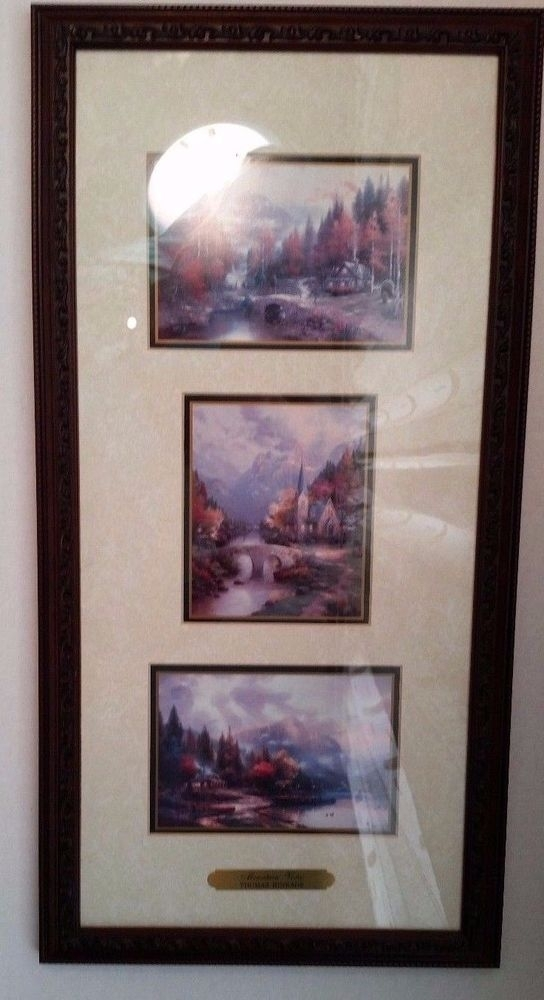 Thomas Kinkade Accent Prints Framed Art Mountain Vistas Coa In With Regard To Framed And Matted Art Prints (Image 15 of 15)