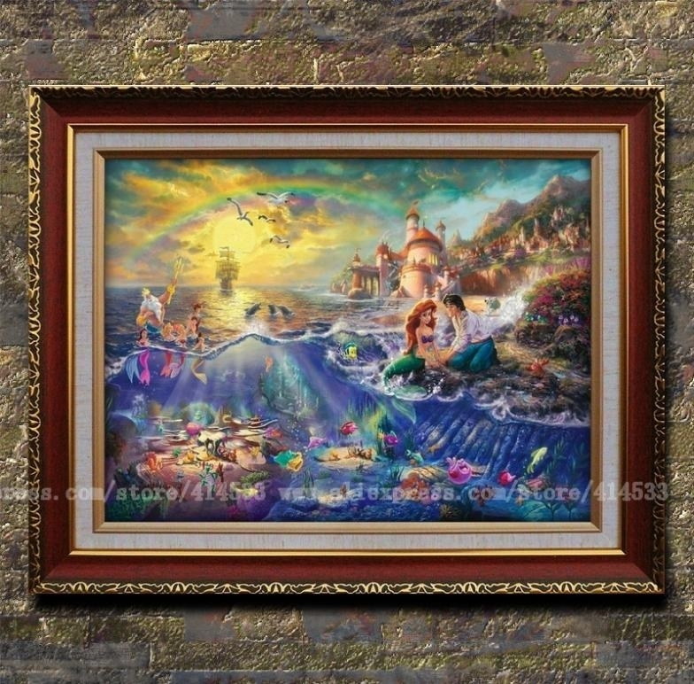 Thomas Kinkade Oil Painting Canvas Prints Key West Landscape With Regard To Famous Art Framed Prints (View 9 of 15)