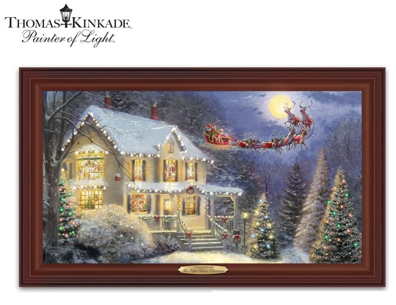 Thomas Kinkade The Night Before Christmas Illuminated Canvas Print In Lighted Canvas Wall Art (Image 12 of 15)