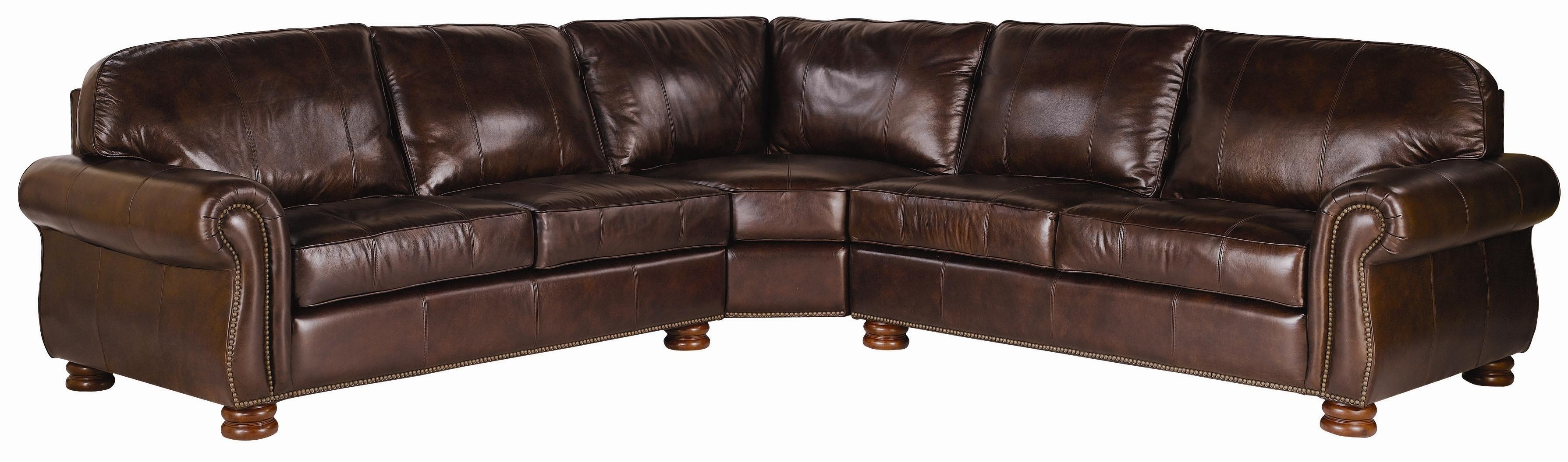 Thomasville® Leather Choices – Benjamin Leather Select 3 Piece For Thomasville Sectional Sofas (Image 10 of 10)