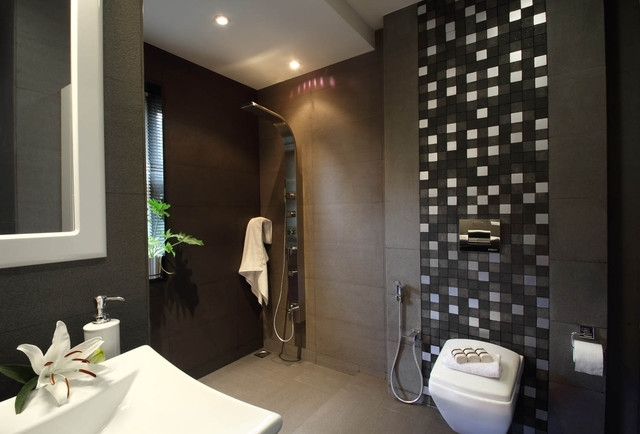 Tile Behind Toilet | Houzz Within Wall Accents Behind Toilet (Image 13 of 15)