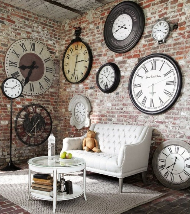 Timely Tips For Decorating With Clocks Intended For Clock Wall Accents (Image 15 of 15)