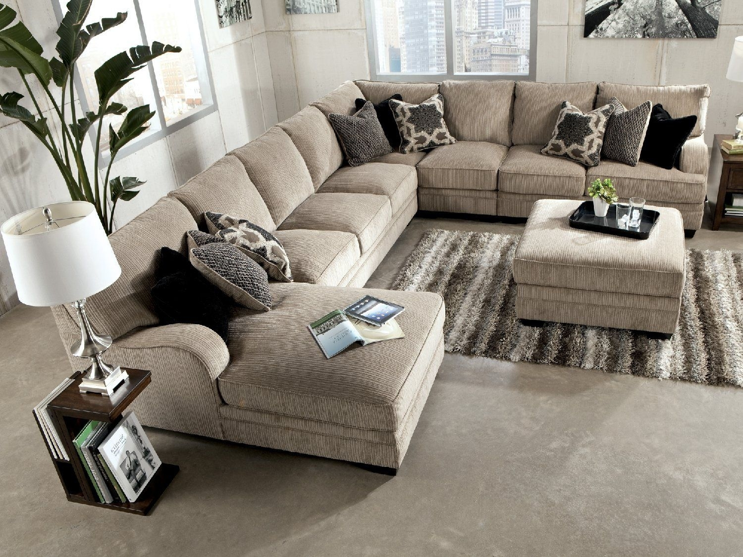 Tisha 6 Piece Sectional Package Including Storage Ottoman | Hom Throughout Jackson Ms Sectional Sofas (Image 10 of 10)