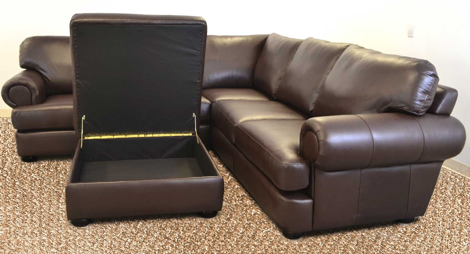 Titan Sofa ‹‹ The Leather Sofa Company With Loveseats With Ottoman (View 5 of 10)