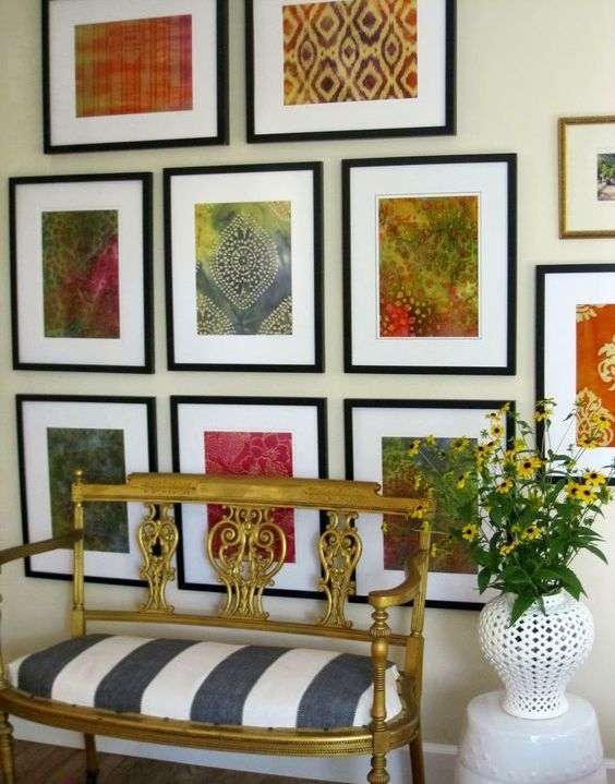 To Frame A Piece Of Fabric Intended For Stretchable Fabric Wall Art (Image 15 of 15)