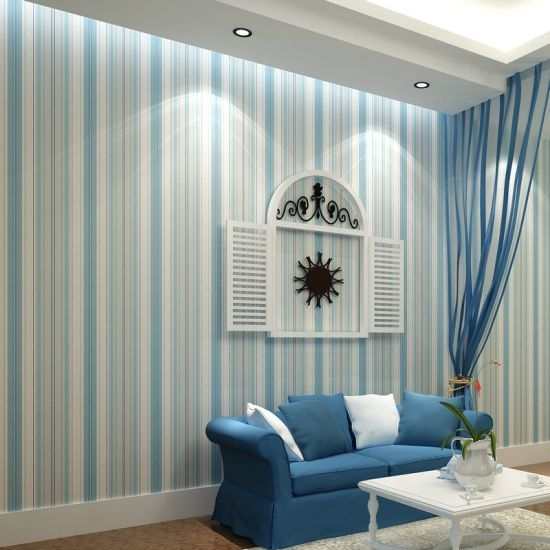 Top 15 Living Rooms With Striped Walls | Ultimate Home Ideas Regarding Vertical Stripes Wall Accents (View 7 of 15)