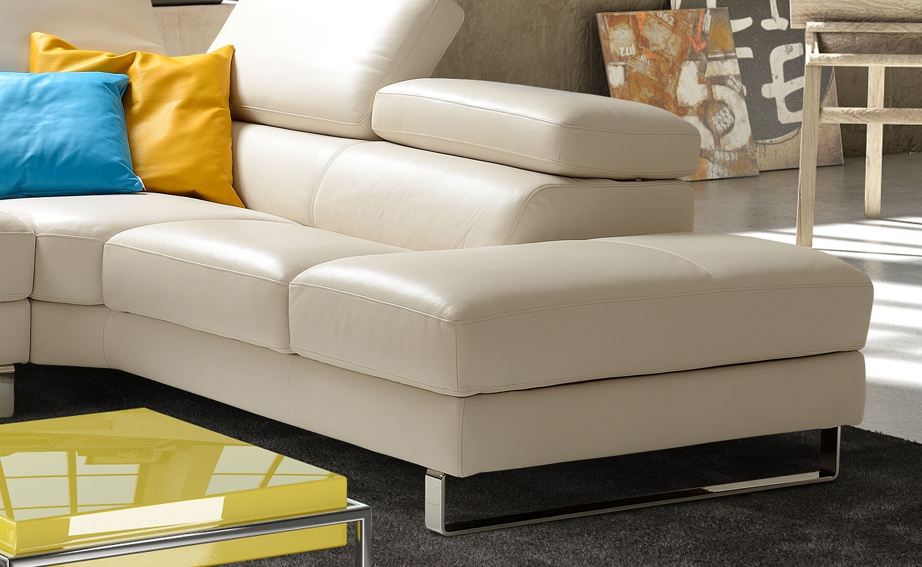 Torino Leather Sectional Sofa • Leather Sofa Throughout Durham Region Sectional Sofas (Image 10 of 10)