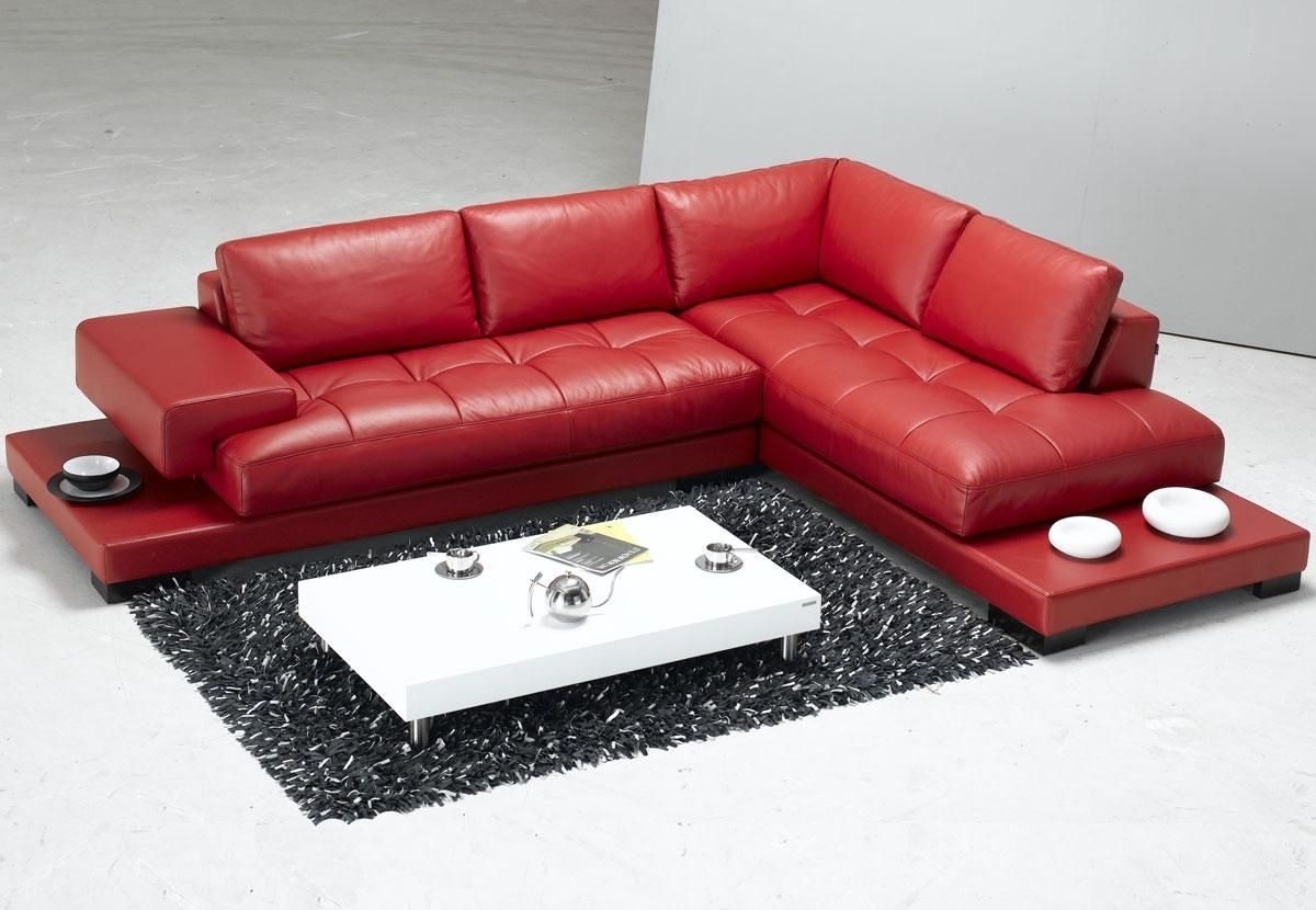 Tosh Furniture Modern Red Leather Sectional Sofa – Rsf | Pearson's With Regard To Red Leather Sectional Couches (Image 10 of 10)