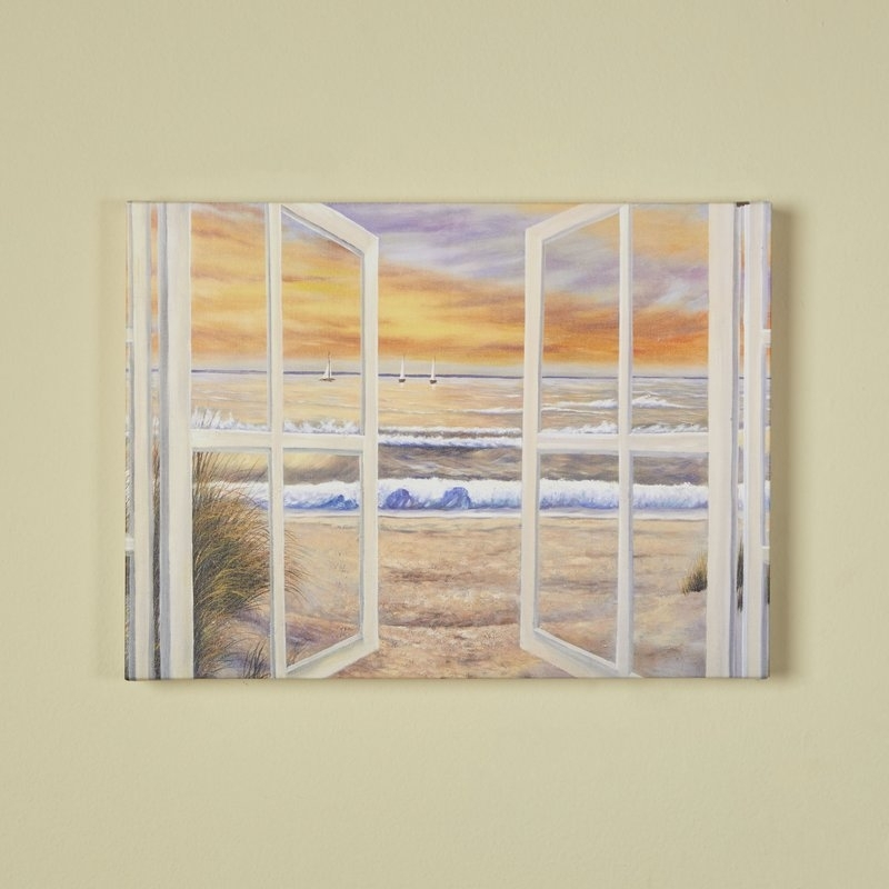 Trademark Art Elongated Window' On Canvas & Reviews | Wayfair Intended For Joval Canvas Wall Art (Image 15 of 15)