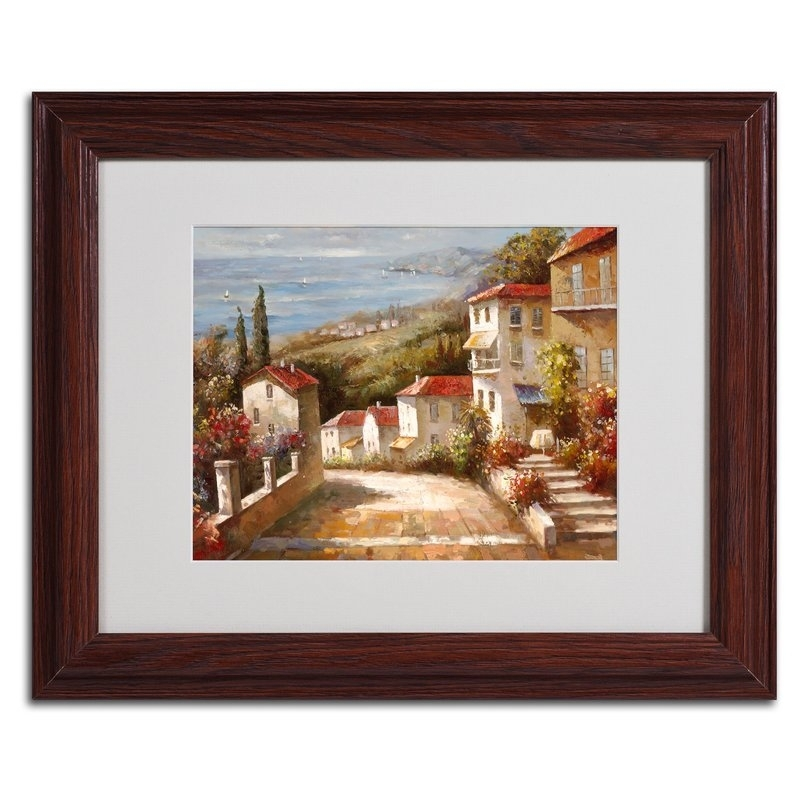 Trademark Art 'home In Tuscany'joval Framed Painting Print Pertaining To Joval Canvas Wall Art (Image 14 of 15)