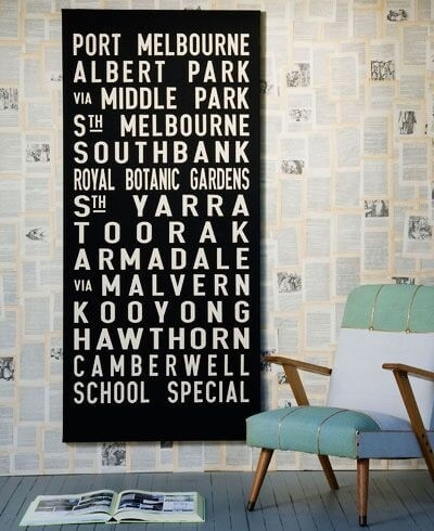 Tram Scrolls | Bus Banners & Personalised Canvas Word Art | Custom Throughout Queensland Canvas Wall Art (Image 12 of 15)
