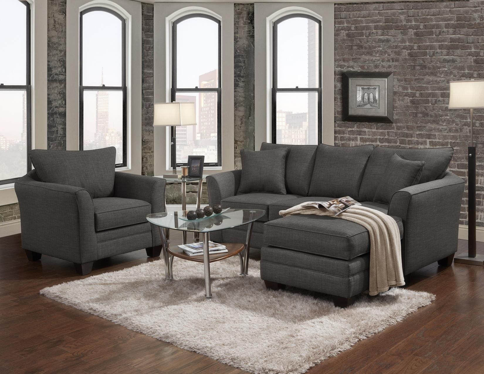 Transitional Sofa With Chaise Endj Henry | Wolf And Gardiner With London Ontario Sectional Sofas (View 5 of 10)