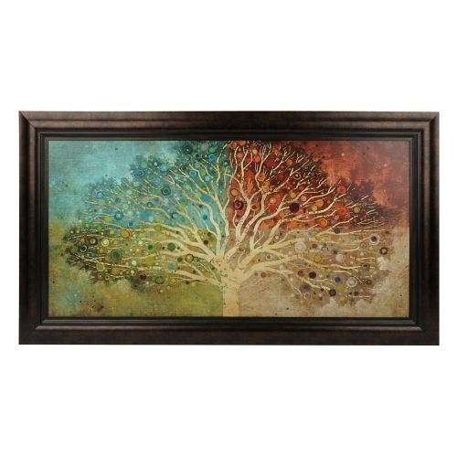 Tree Of Life Seasons Framed Art Print | Printing, Catalog And Walls Regarding Framed Asian Art Prints (View 6 of 15)