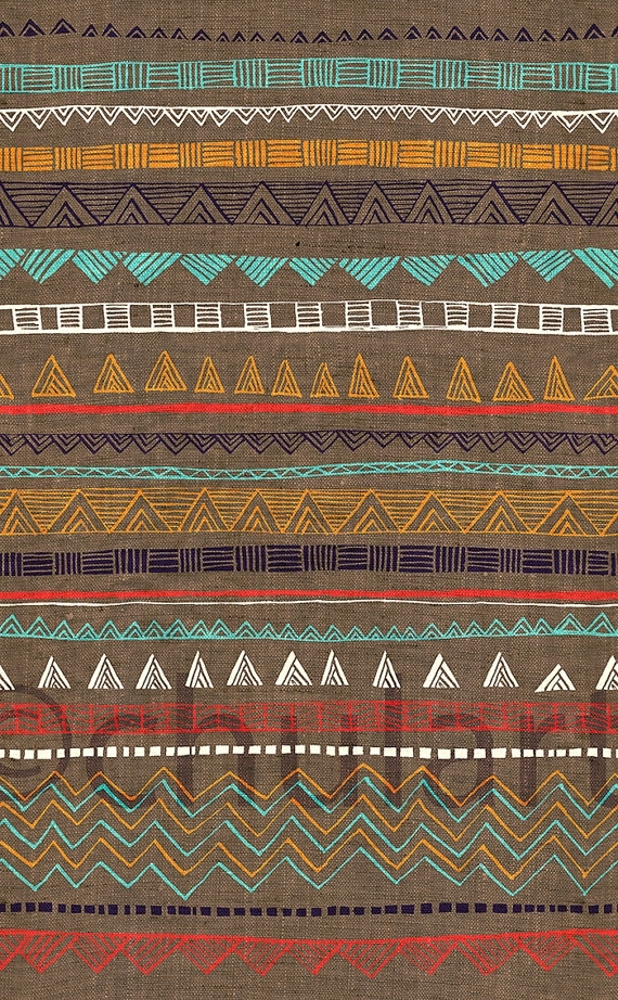 Tribal Art Print Arizona Hues | Walls, Etsy And Patterns Intended For Aztec Fabric Wall Art (View 6 of 15)