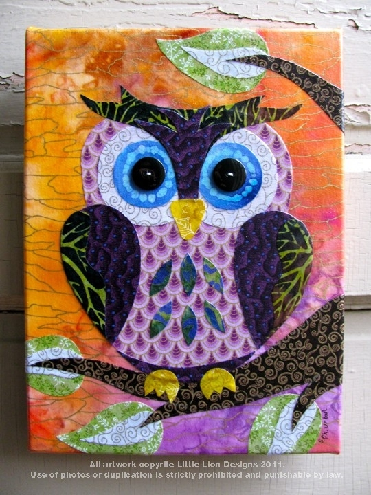 Trina's Trinketts: Etsy Finds Friday – Fabric Collages | Art I With Fabric Collage Wall Art (Image 13 of 15)