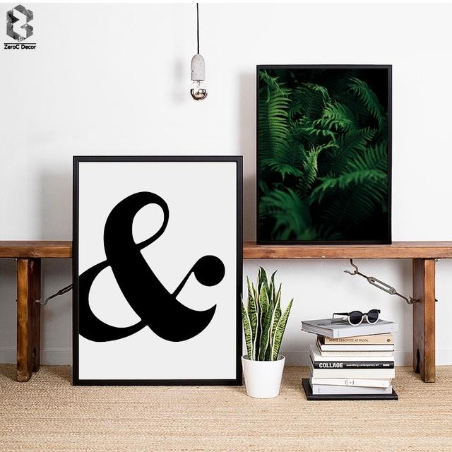 Tropical Palm Quotes Scandinavian Poster Wall Art Canvas Painting Inside Scandinavian Fabric Wall Art (Image 14 of 15)