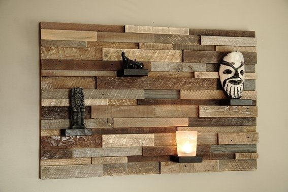 Truly Amazing Wall Decorations Made Of Reclaimed Wood With Regard To Reclaimed Wood Wall Accents (Image 12 of 15)