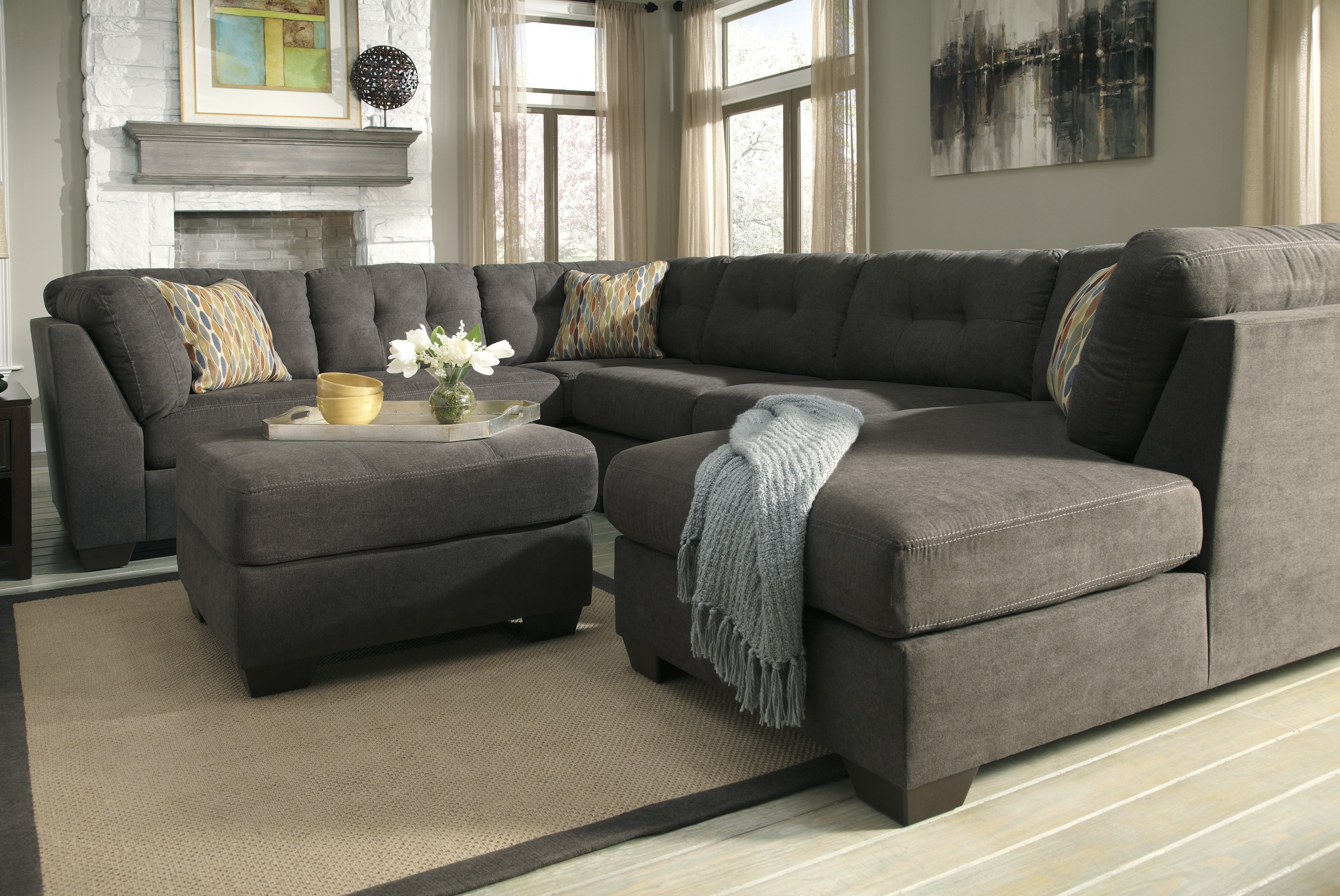 Tufted Sectional Sofa With Chaise – Cleanupflorida With Tufted Sectional Sofas With Chaise (Image 9 of 10)