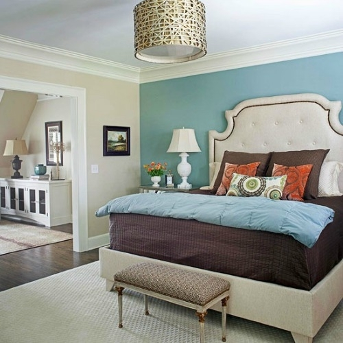 Turquoise Accent Wall | Picking The Perfect Paint, Adore Your Regarding Wall Accents For Bedroom (View 7 of 15)