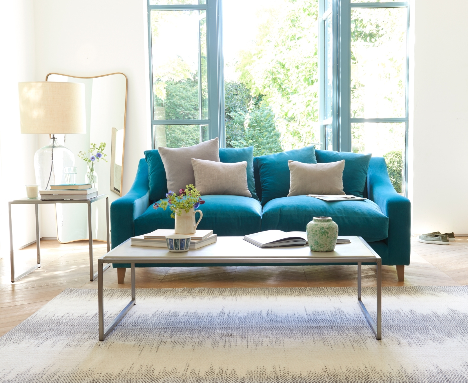 Turquoise Sofa Living Room — Awesome Homes : Best Ideas Turquoise Couch For Turquoise Sofas (Image 9 of 10)