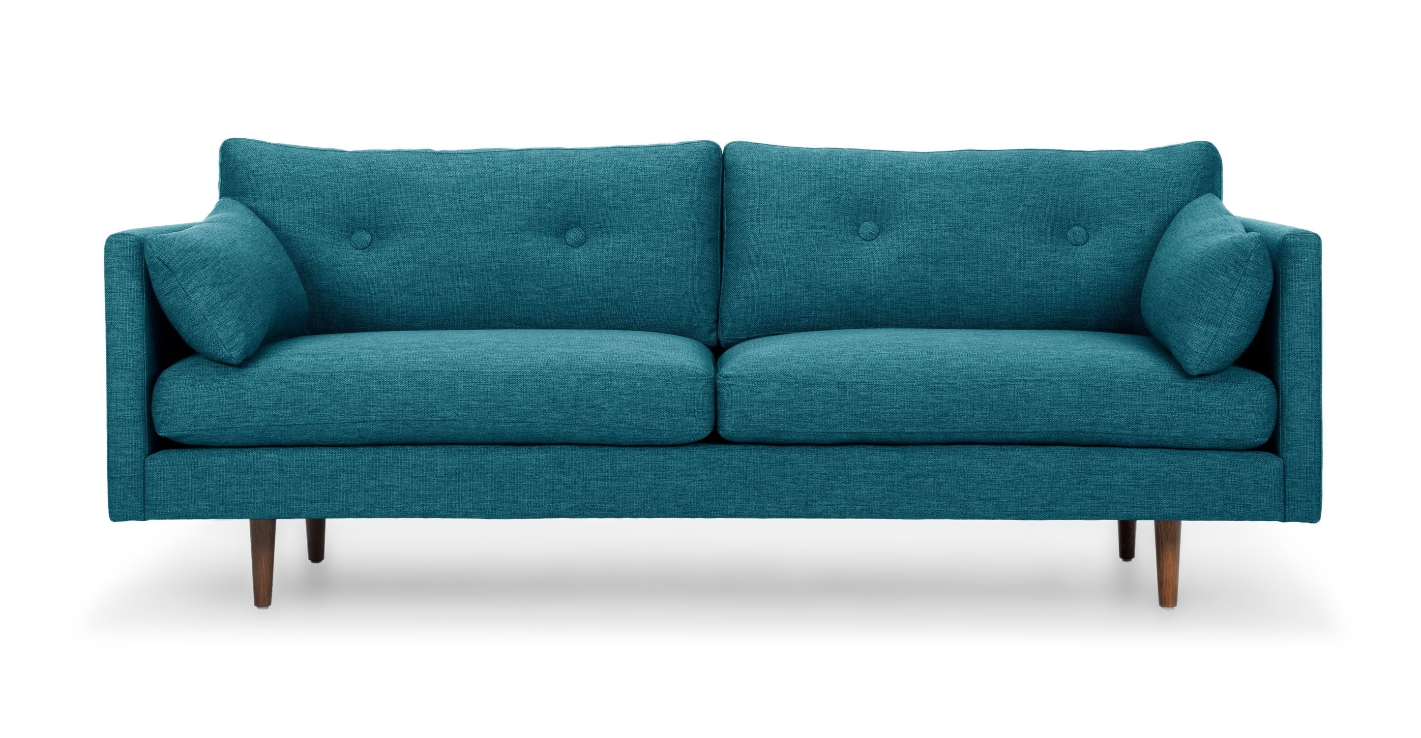 Turquoise Tufted Sofa, 3 Seat, Solid Wood Legs | Article Anton Regarding Turquoise Sofas (Image 10 of 10)