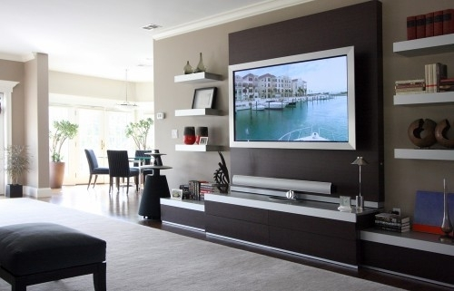 Tv Accent Wall Love The Behind Tv – Golfocd With Wall Accents With Tv (View 4 of 15)